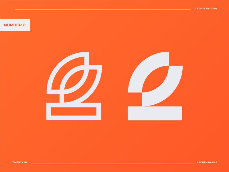 36 days of type: Number 2 logonumber0 36daysoftype concept identity mark brand designer branding design logo