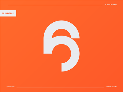 36 days of type: Number 6 36daysoftype number 6 6 logo logodesigner illustrator graphic identity mark brand designer branding design logo