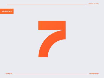 36 days of type: Number 7 7 design logodesigner illustrator graphic identity mark brand designer branding design logo
