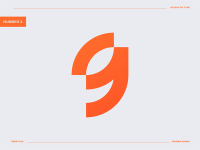 36 days of type: Number 9 identity mark brand designer branding logo design logo designer number nine logo logo nine nine 9 number nine