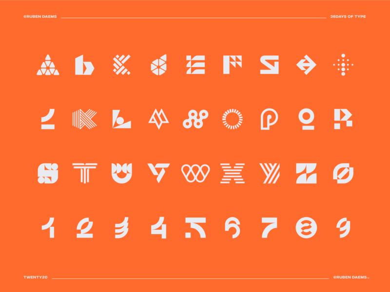 36 days of type: final post designing concept logodesigner identity mark designer design logo 36daysoftype marks numbers alphabet