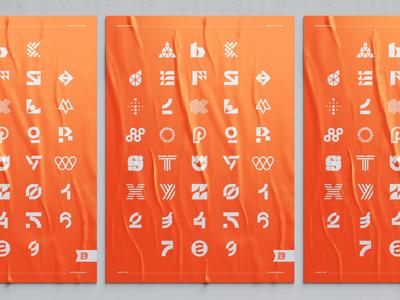 36 days of type poster design alphabet numbers logo mark 36daysoftype logodesigner illustrator graphic identity mark brand designer branding design logo