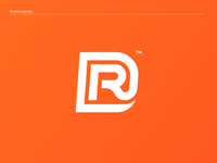 RD - Personal Logomark orange color logodesigner identity design personal identity brand branding designer design logomark logo