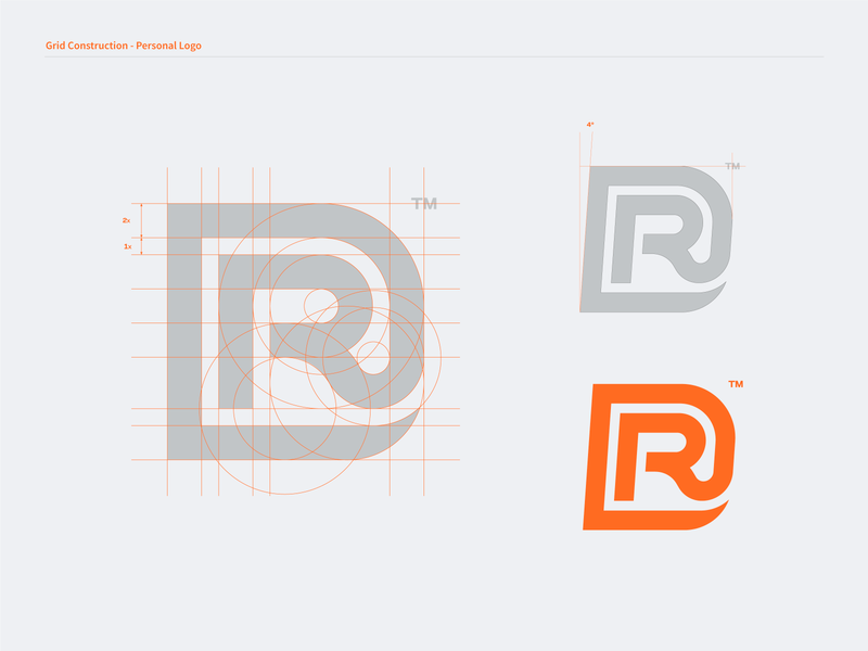Grid Construction - Personal Logo graphic designing mark identity brand branding designer identity design personal design logo