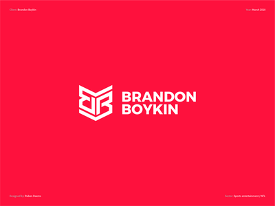 Brandon Boyking - Logo Design designing color logodesigner identity brand influence national football league branding designer design logo