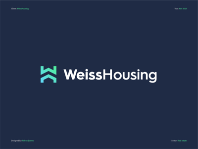 Weiss Housing - Logo Design graphic mark identity brand branding designer design logo realestatebranding housingcompany realestatelogo realestate