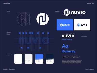 Nuvio IT Solution - Brand Identity mark logodesigner identity brand branding designer design logo itlogo tech logo technology webdesignservice itsupport