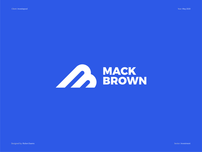 Mack Brown (NFL) - Logo design national football league nfl design football player football logo football nfl identity brand branding designer design logo