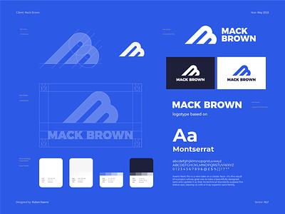 Mack Brown (NFL) - Brand Identity Design branding design logodesigner brand identity mark nfl design branding designer national football league design logo