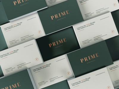 Prime Apartments - Stationery Mockup logodesigner mark branding identity brand logo designs mockup rental real estate logo design stationary design