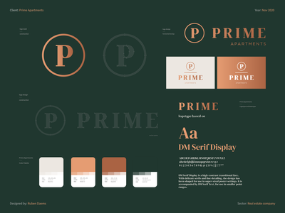 Prime Apartments - Brand identity identity brand designer branding sales tool real estate agent rental company prime apartments prime apartments brand identity logo design real estate branding real estate logo real estate agency real estate