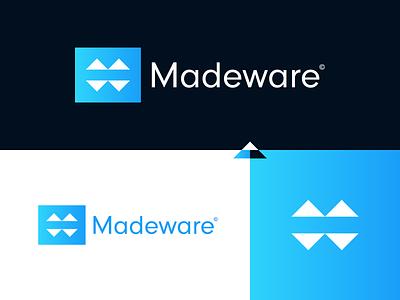 Madeware - logo design made brand designer branding design logo selling buying product company construction company construction logo logo design product app construction