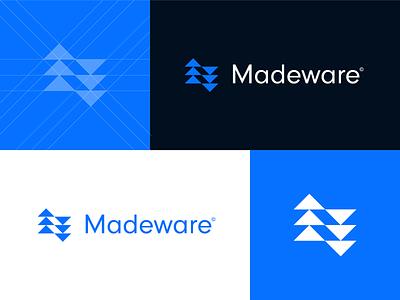 Madeware - logo design v2 graphic design identity mark product app logo construction company construction logo construction tools product company logo brand identity branding designer brand made