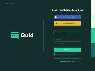 Quid Chat App - Logo Design v2 apple store mark identity brand branding design logo chat logo chat app designer brand identity designer signup login screen brand app