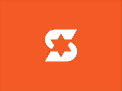 S + Star - Logo Design lettertype monogram vector identity mark ui illustration brand designer design