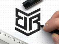 Double B Logo Sketch