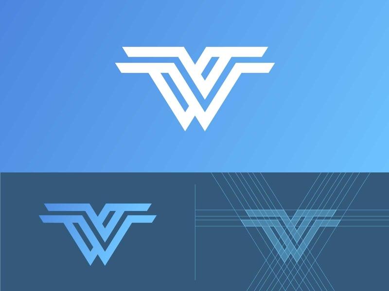 W for 36daysoftype vector letter minimalist illustration grid logos minimal logodesigner designing color concept identity designer mark graphic illustrator brand branding logo design