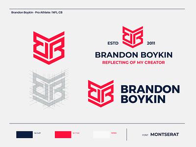 Brandon Boykin - Logo Design mark color concept identity nfl cb pro athlete montserrat talk show talk designing graphic designer brand branding design logo brandon boykin nlf corner back pro nlf