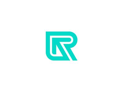 R Arrow Monogram color graphic combinations identity designer vector logotype combination mark combination design logo