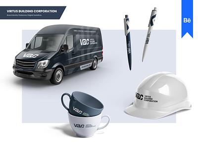 Virtus Building Corporation mark designer brand branding design logo california contracting services management agency company