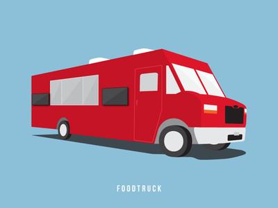 Food Truck - Ingram Micro Marketing food truck van transportation red blue illustration foodtruck