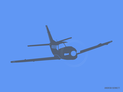 TBM 850 private jet flying plane airplane blue tbm850 aviation illustration