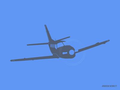 TBM 850 private jet flying plane airplane blue tbm850 aviation illustration
