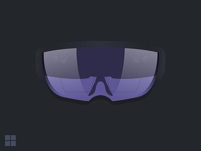 Microsoft Hololens Device Illustration holo lens illustration microsoft