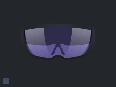 Microsoft Hololens Device Illustration