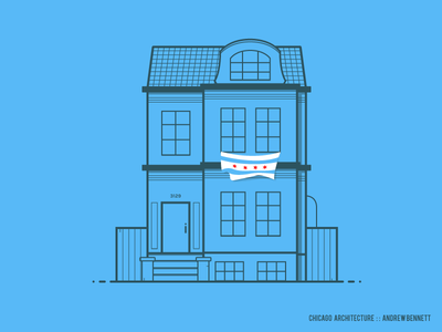 Chicago Architecture architecture simple chicago minimal line illustration house