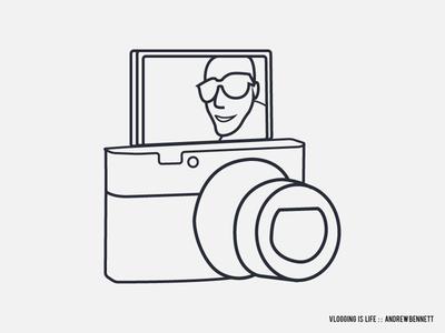 Vlogging is Life illustration line art art t-shirt design vlogging vlog