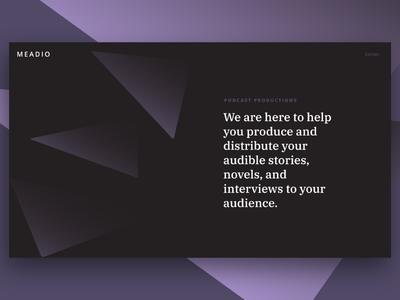 Meadio Landing imb plex abstract layout typography art direction web design