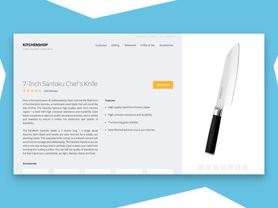 Kitchen Shop Experimental Layout layout website kitchen minimal clean knife