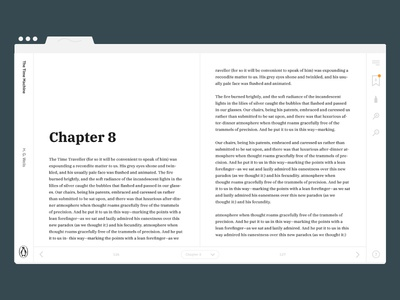 Minimal Book UI - Exploration interface ui book layout light typography clean white