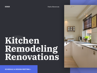 Kitchen Remodeling & Renovations website landing.