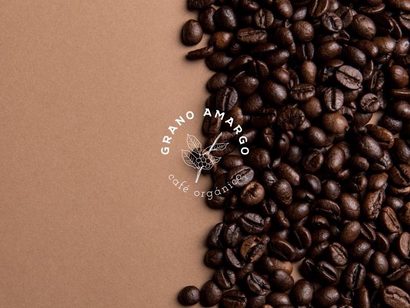 Grano Amargo Café cafe branding logodesign typography adobe illustrator design brand logo