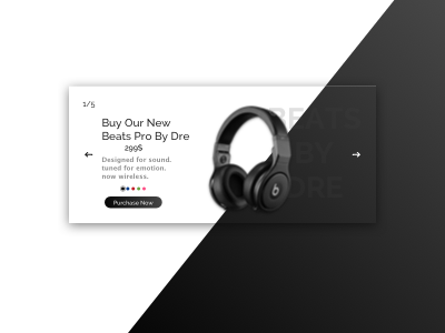 Beats by dre Landing Page Concept headphones landing beats apple e-commerce concept