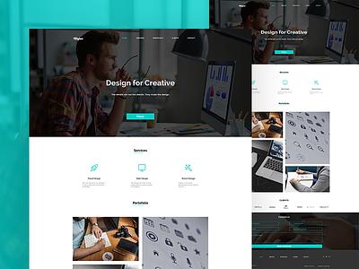 Mojoo Portofolio Demo designer website portofolio theme themeforest wordpress