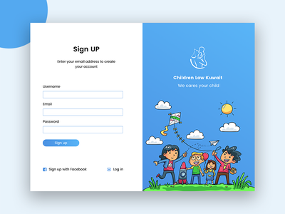 Sign up Page For Children Law Website up sign signup children law trend clean ux ui