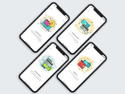 Payment App Landing Screens ux ui service boarding on payment landing iphone ios invite home app