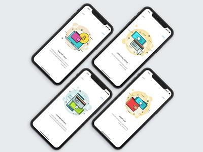 Payment App Landing Screens
