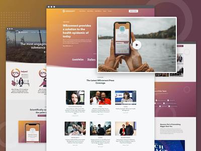 WEconnect Health Management startup marketing site ux ui website branding web design