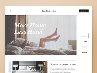003 Landingpage guesthouse hostel hotel web ux ui dailyui landingpage
