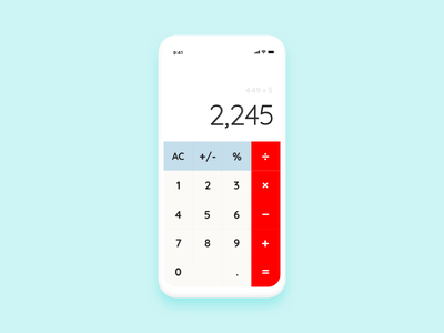 004 Calculator calculator dailyui