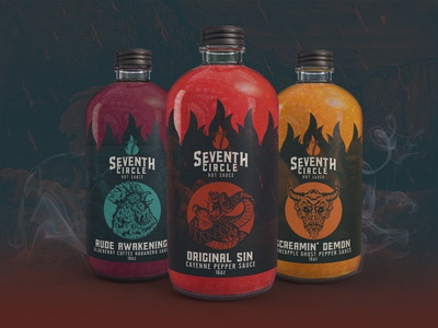 Seventh Circle Hot Sauce - Packaging Design