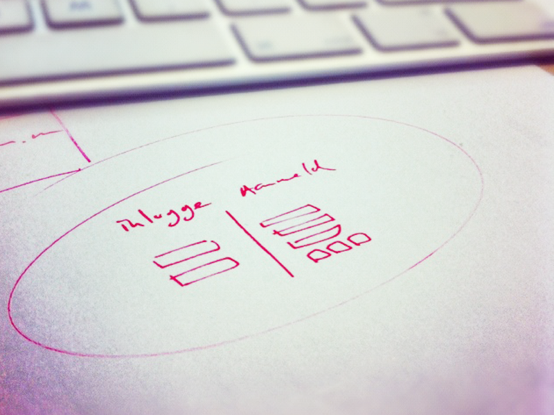 Sketching a login process by Patrick Loonstra on Dribbble