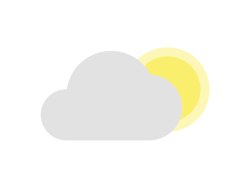 Partly Cloudy Icon icon weather
