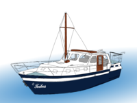 Illustration of the boat I loved so much