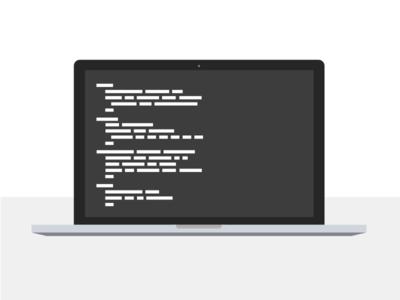 Coding text laptop apple illustration macbook code
