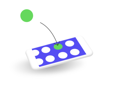Illustration of a digital product 2 olisto phone illustration